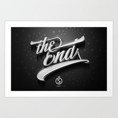The End — Promotional artwork for Storefront, a font by Sudtipos.  Art Print