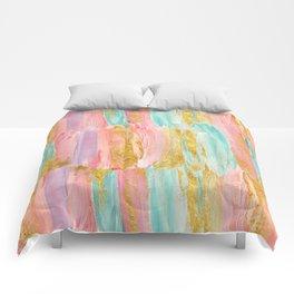 Gilded pastels Comforters