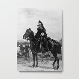 A Dragoon on Horseback by Edouard Detaille Metal Print