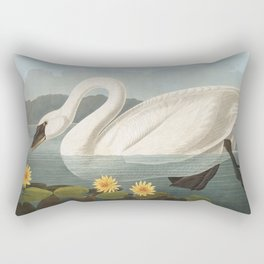 Common American Swan by John James Audubon Rectangular Pillow