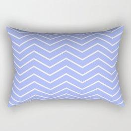 Fat Thin Chevrons Dove BLUE Rectangular Pillow
