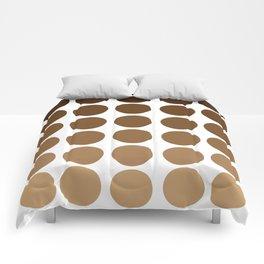 Monochrome Brown Circles Comforters