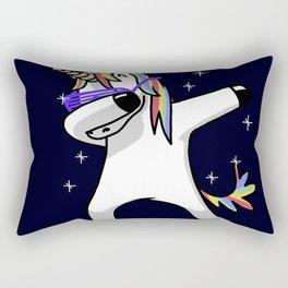 Dabbing Unicorn Shirt Dab Hip Hop Funny Magic Rectangular Pillow
