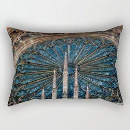 The Other Rose Window Rectangular Pillow