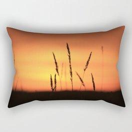 Sunrise field shadow Rectangular Pillow