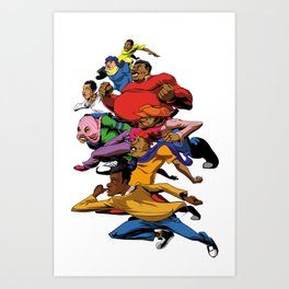 Fat Albert and the gang Art Print