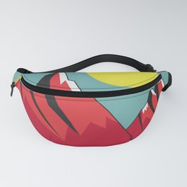 Abstract Landscape - Snow Peak Mountains Fanny Pack