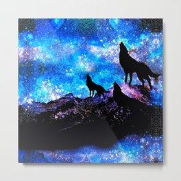 Wolf Trio Metal Print