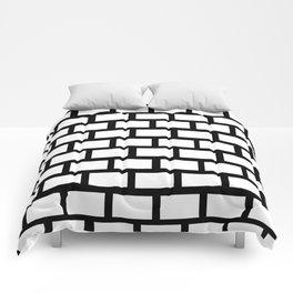 Funn black an white wall Comforters