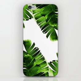 Green banana leaf iPhone Skin