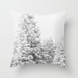 Chairlift Abyss // Black and White Chair Lift Ride to the Top Colorado Mountain Artwork Art Print Throw Pillow