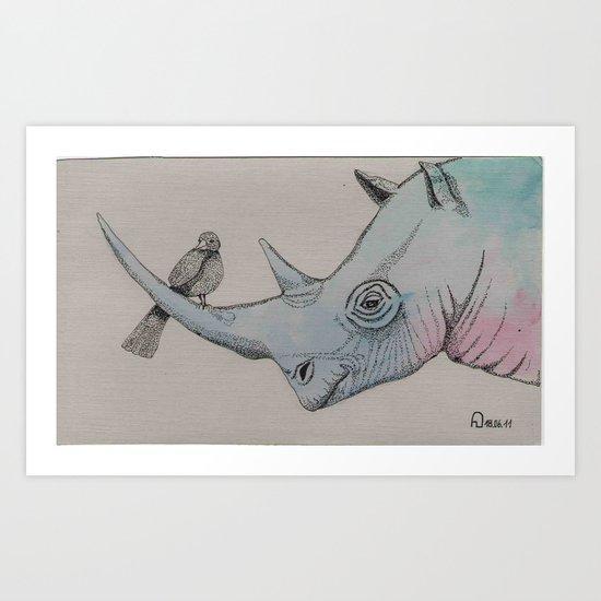 a friend in need Art Print