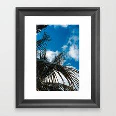 Sky behind the trees Framed Art Print