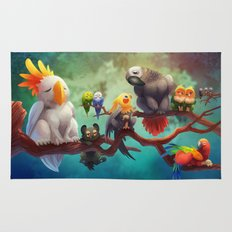 Griffins of a Feather Rug