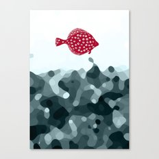 Little Red Fish Canvas Print