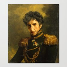 Bob Dylan - replaceface Canvas Print