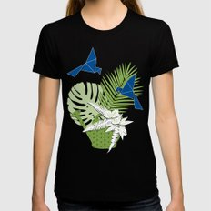 GREENERY Black SMALL Womens Fitted Tee