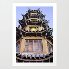 Chinatown in L.A. Art Print