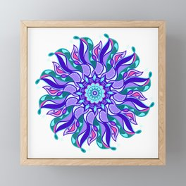 Vibrant Ribbon Mandala Framed Mini Art Print