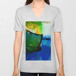 Abstract Bliss 4I by Kathy Morton Stanion Unisex V-Neck