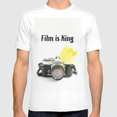 Film is King White MEDIUM Mens Fitted Tee