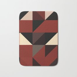 Red Black Block Pattern Abstract Badematte