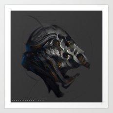 Grotesque helmet Art Print