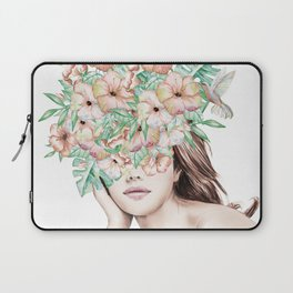She Wore Flowers in Her Hair Island Dreams Laptop Sleeve