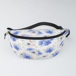 Blue Meadow Pattern 2 Fanny Pack