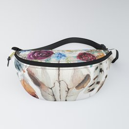 Dreamcatcher skull feathers & flowers Fanny Pack