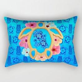 Hawaiian Blue Honu Rectangular Pillow
