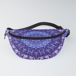 Indulgence of lavendery details in the lace mandala Fanny Pack
