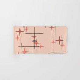 Mid Century Modern Stars Salmon Pink Hand & Bath Towel