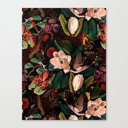 FLORAL AND BIRDS XIV Canvas Print