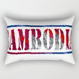 Cambodia Font with Cambodian Flag Rectangular Pillow