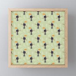 Toucan pattern 001 Framed Mini Art Print
