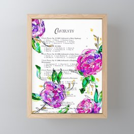 Book contents - Floral painting Framed Mini Art Print