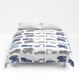 blues and grays Comforters