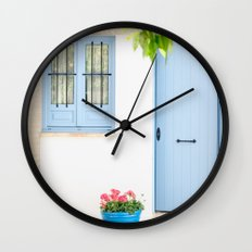 Blue and light Wall Clock