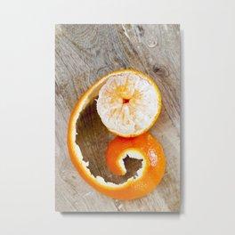 juicy orange mandarin Metal Print