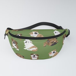 Bulldogs on Olive Fanny Pack