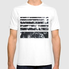 Under the trees White MEDIUM Mens Fitted Tee