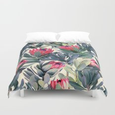 Painted Protea Pattern Duvet Cover