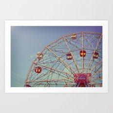 Wonder Wheel (Coney Island) Art Print