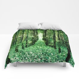 Magical Forest Green Elegance Comforters