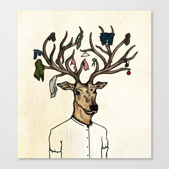 Evicted deer Canvas Print