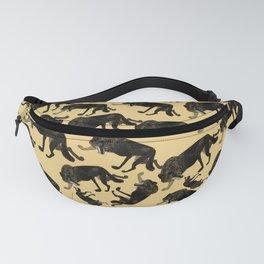 Totem black Buffalo wolf (nubilus) Yellow Fanny Pack
