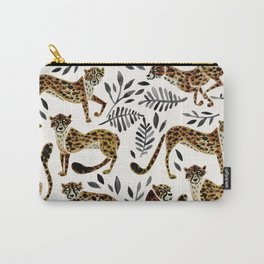Cheetah Collection – Mocha & Black Palette Carry-All Pouch