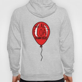 IT We All Float Down Here Red Balloon Hoody