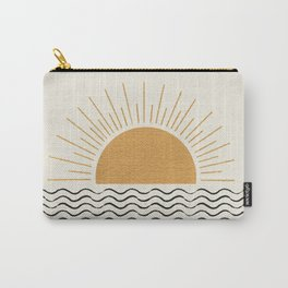 Sunrise Ocean -  Mid Century Modern Style Carry-All Pouch